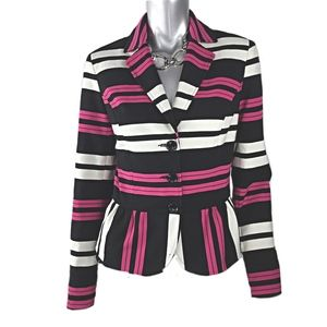 International Concepts Striped Blazer Size Large